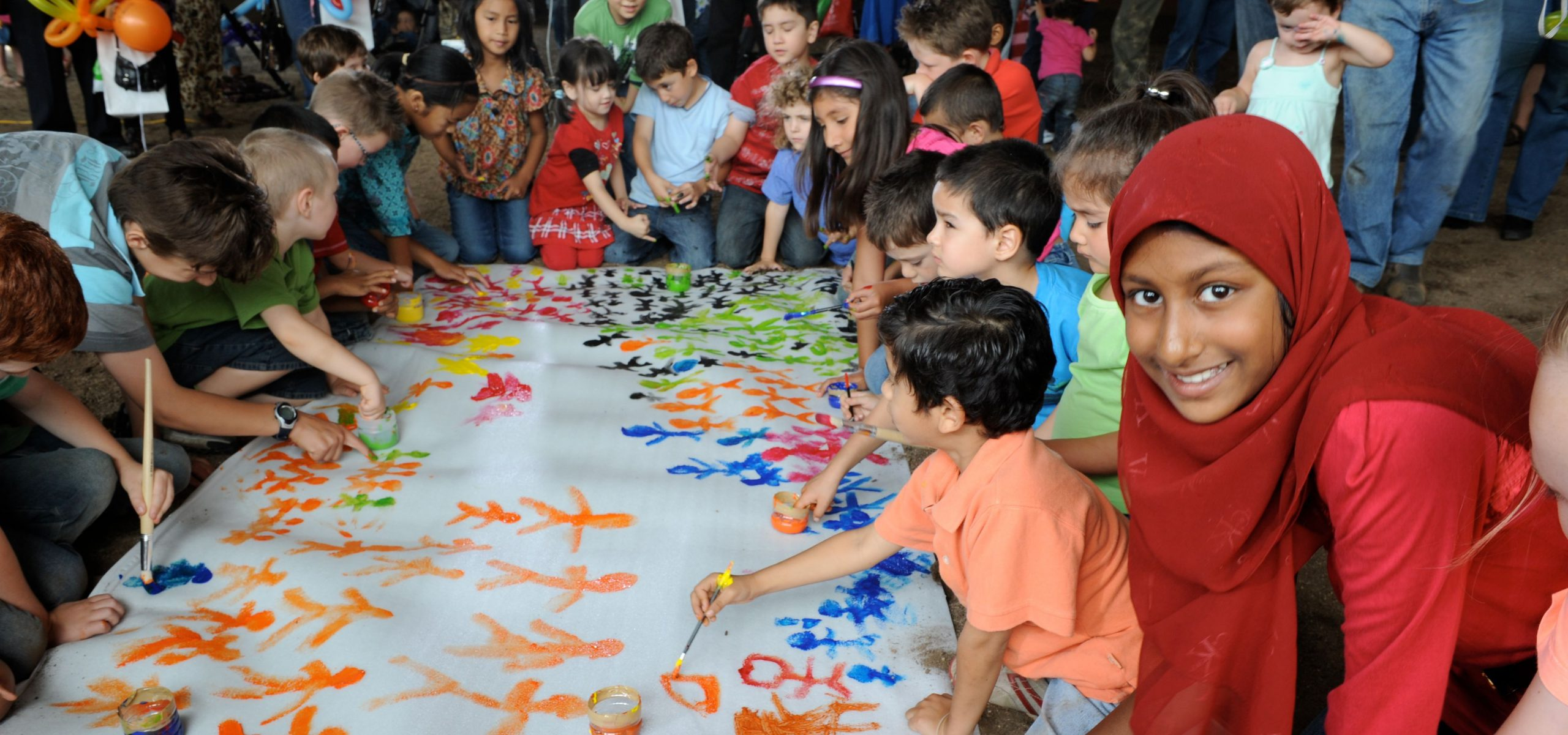 harmony day with children painting
